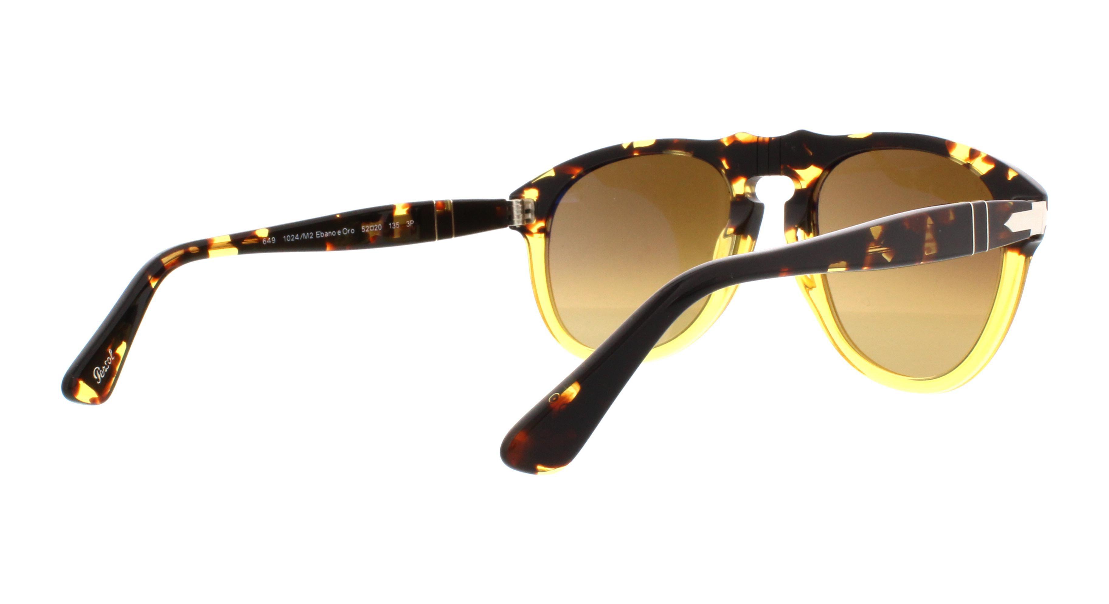 4ffe9457bb PERSOL - PERSOL Sunglasses PO0649 1024M2 Ebano E Oro 52MM - Walmart.com