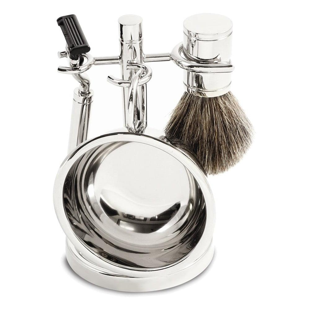 Bey Berk Suave Shaving Set, Grey chrome