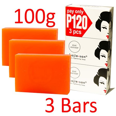 Kojie San Skin Lightening Kojic Acid Soap - 3 Bars