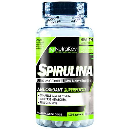 Nutrakey Spirulina   100 Capsules
