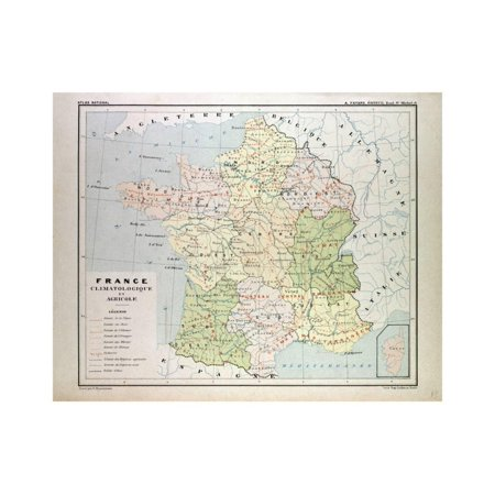 Map Of France To Print.Map Of France Print Wall Art