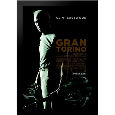 Gran Torino 28x40 Large Black Wood Framed Print Movie Poster Art