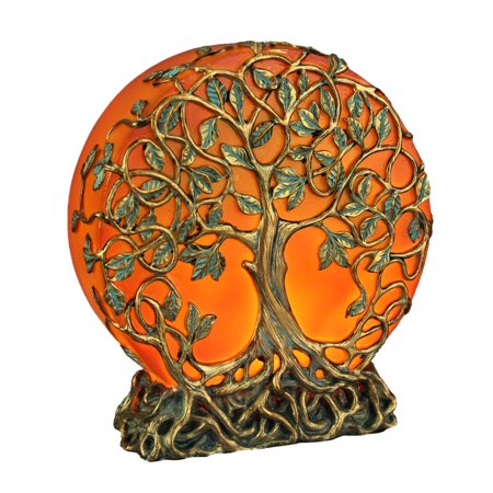Orange Druid Tree of Life Plug-In Night Light Statue ()