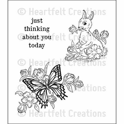 "Heartfelt Creations Cling Rubber Stamp Set, 5"" x 6-1/2"""
