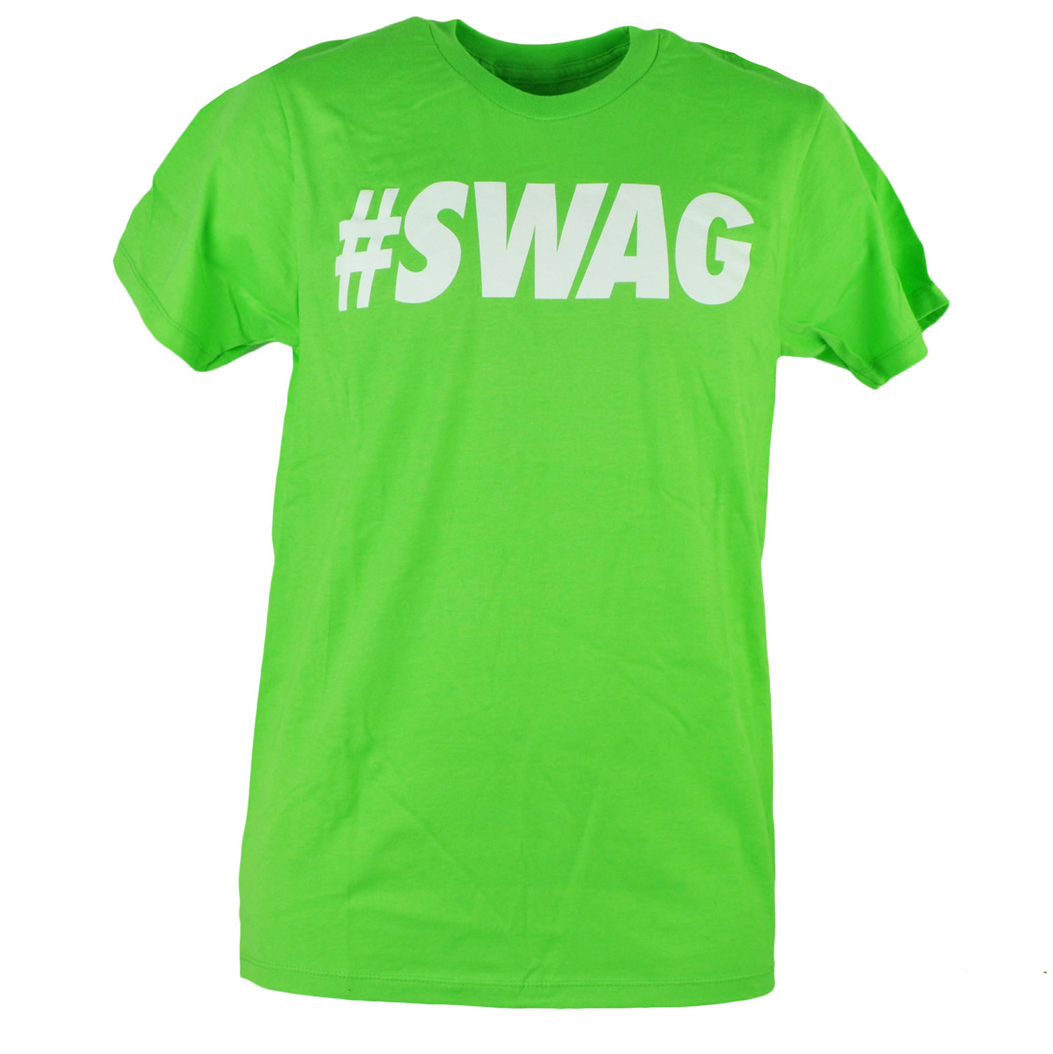 Urban Pipeline #Swag Swag Lime Green Text Retro Mens Adult Tshirt Tee XLarge
