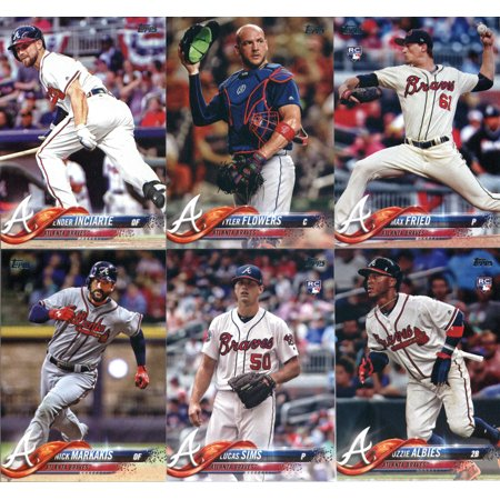 Team Set Matt - 2018 Topps Atlanta Braves Team Set of 12 Baseball Cards (Series 1): Mike Foltynewicz(#71), Atlanta Braves(#135), Luiz Gohara(#138), Dansby Swanson(#167), Matt Adams(#178) plus more!