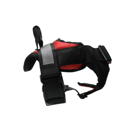 Adjustable Red And Black Heavy Duty Nylon Dog Harness With