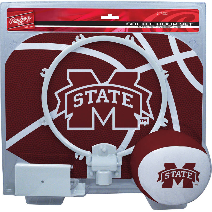 Rawlings NCAA Slam Dunk Softee Hoop Set Mississippi State University Bulldogs