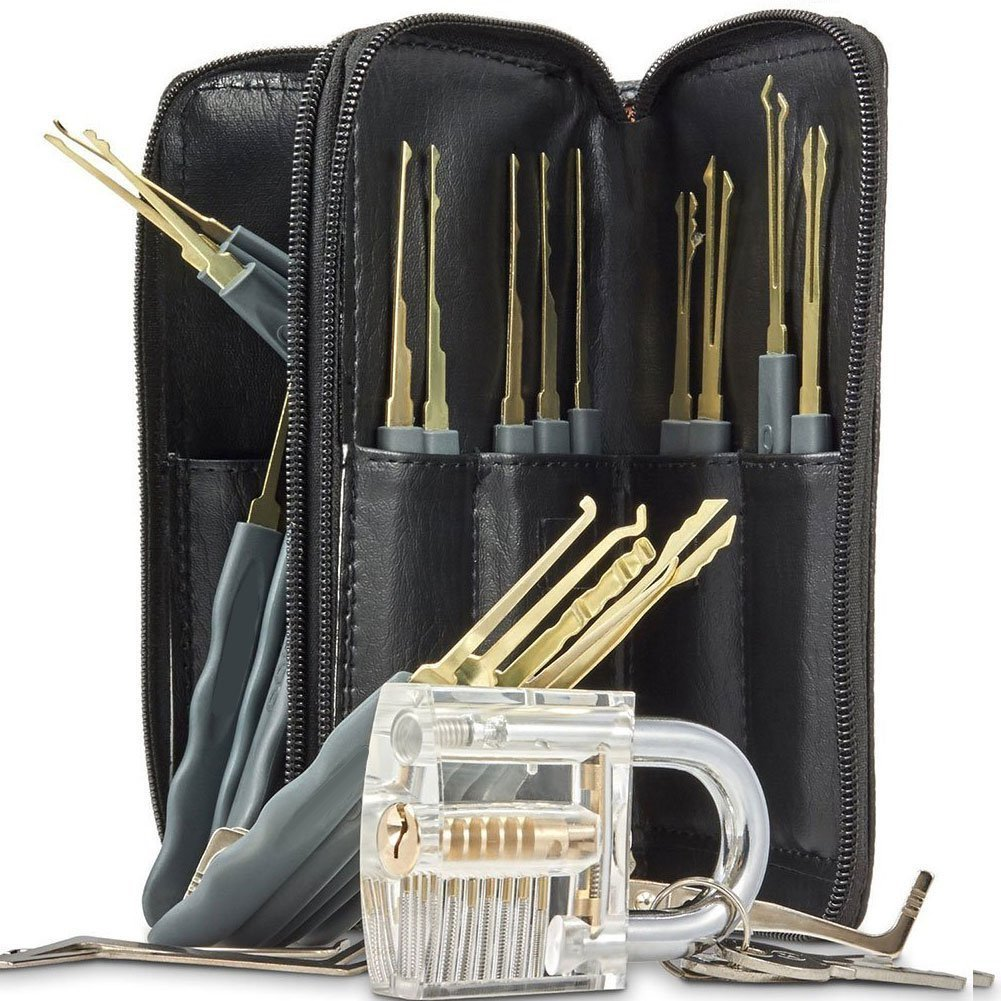 24-Piece Practice Padlock Tool Set with Professional Locksmiths Gift for Kids