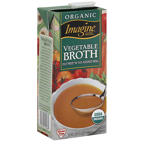 Imagine Foods Organic Vegetable Broth, 32 oz (Pack of 12)