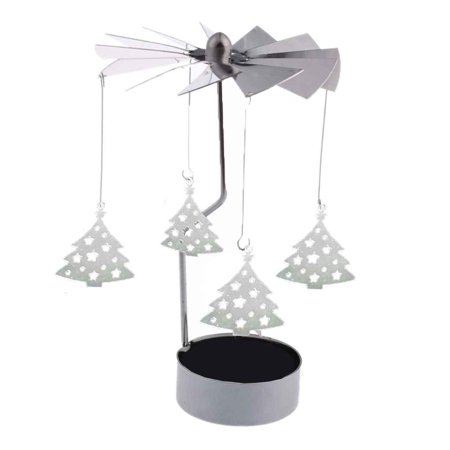 Flying Outlets Rotary Spinning Tea Light Candle Holder Christmas Home Decor Metal Candlestick Candle Stand