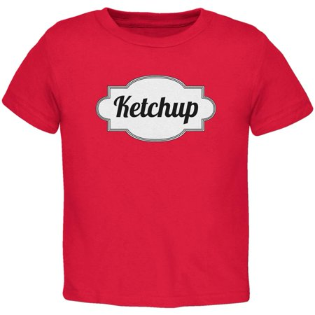 Halloween Ketchup Costume Red Toddler T-Shirt (Toddler Halloween Party Snacks)