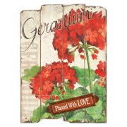 Blossom Bucket 'Planted with Love' Geranium Sign Wall Decor