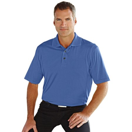 Tri Mountain Mens Big And Tall Textured Jacquard Golf Shirt
