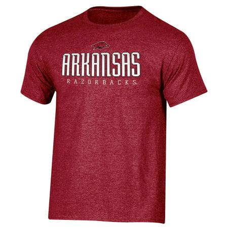 Men's Russell Cardinal Arkansas Razorbacks Basic Logo Crew Neck T-Shirt