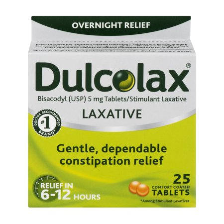 Dulcolax Laxative Tablets, 25ct (Best Immediate Constipation Relief)