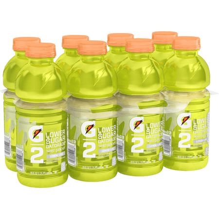 G2 Lower Sugar Gatorade Thirst Quencher Sports Drink  Lemon Lime  20 Fl Oz  8 Count