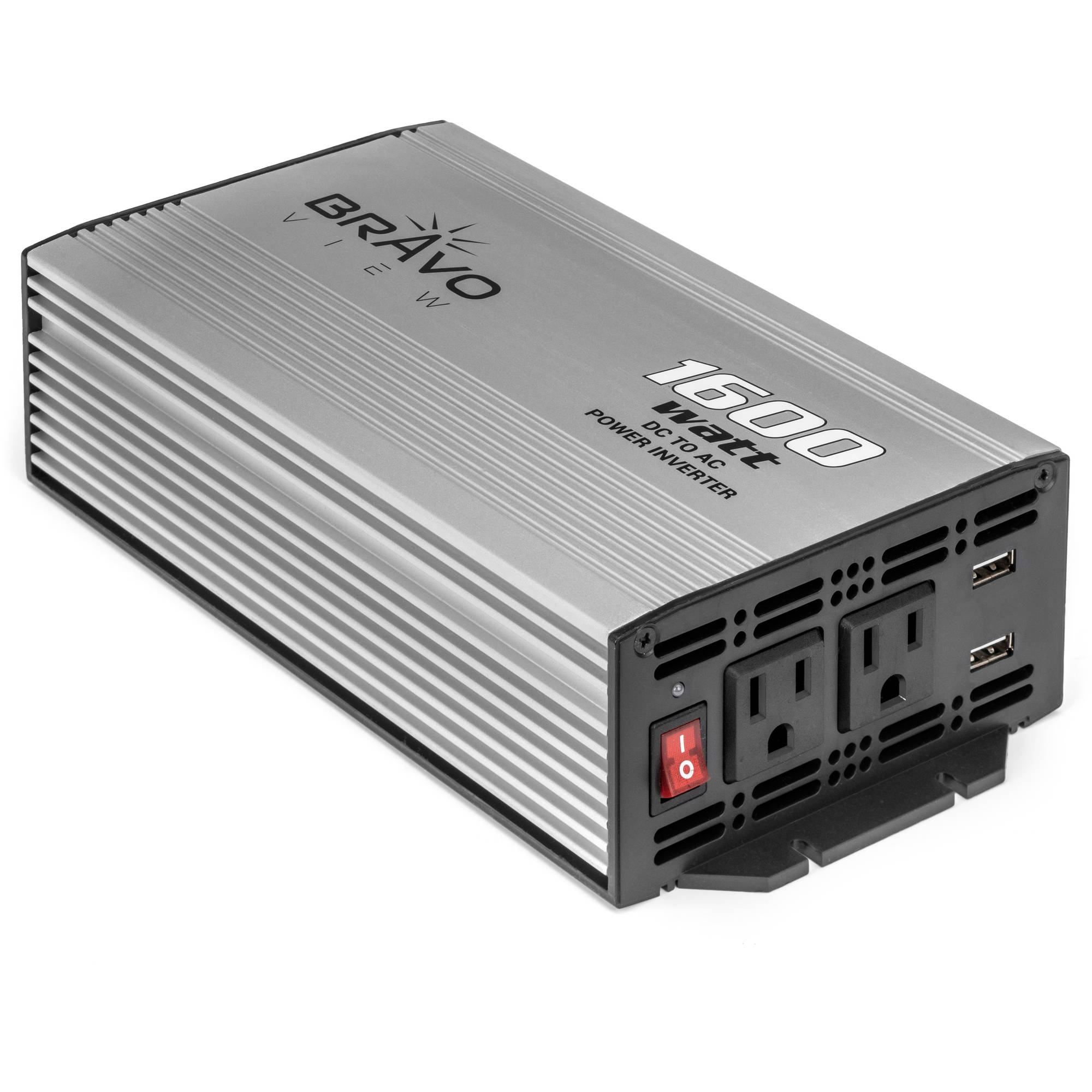Bravo View INV-1600U – 800-Watt Power Inverter with Dual USB Charging (1600 Watt Surge)