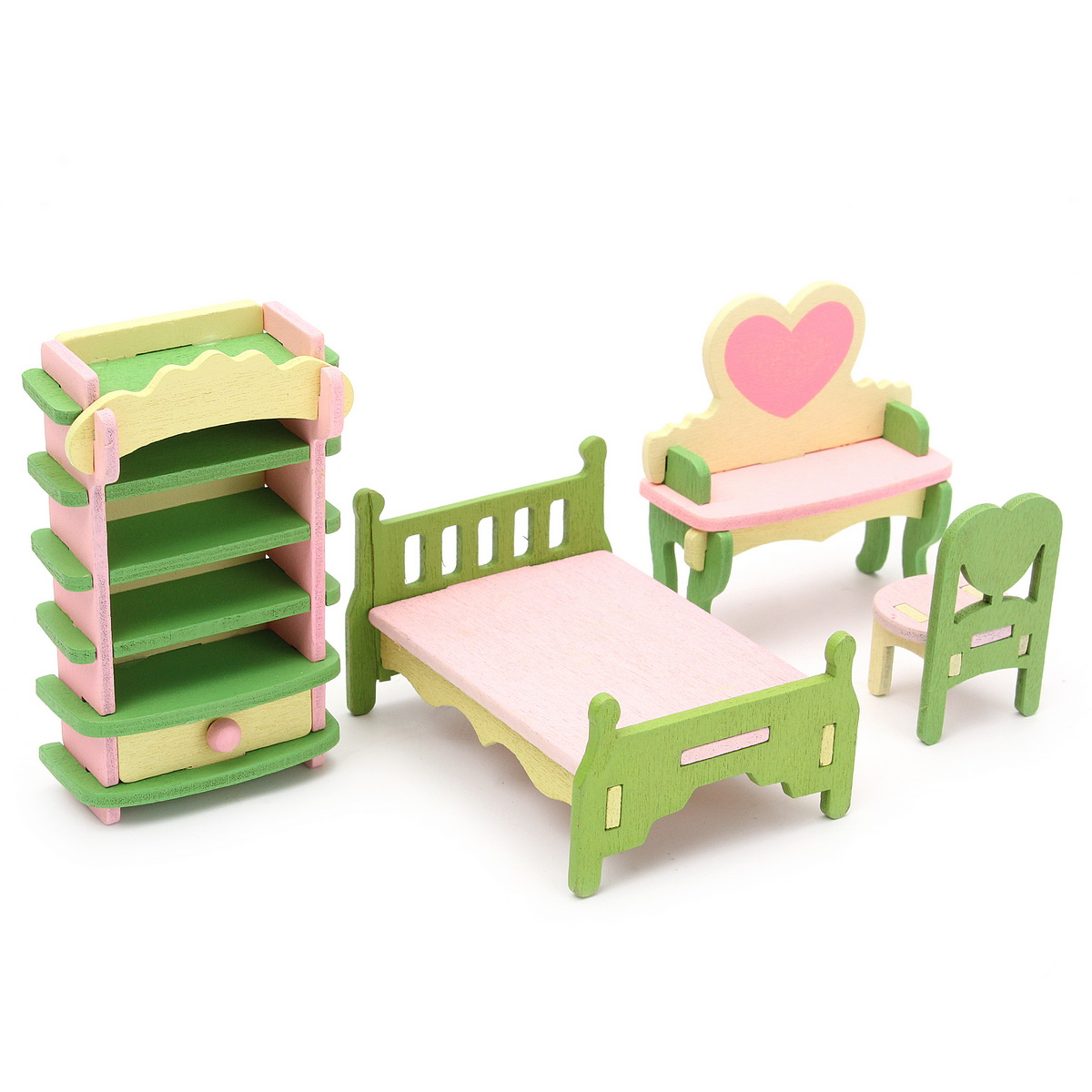 Toys Dollhouse Furniture Doll Accessories Wooden Dolls House Miniature Accessory Room Furniture Set Kids Pretend Play Toys