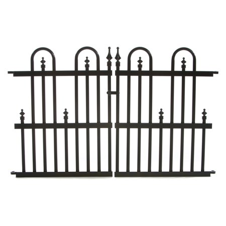 Garden Gate Wall (Specrail Roxbury 24G Aluminum Garden Fence Gate )