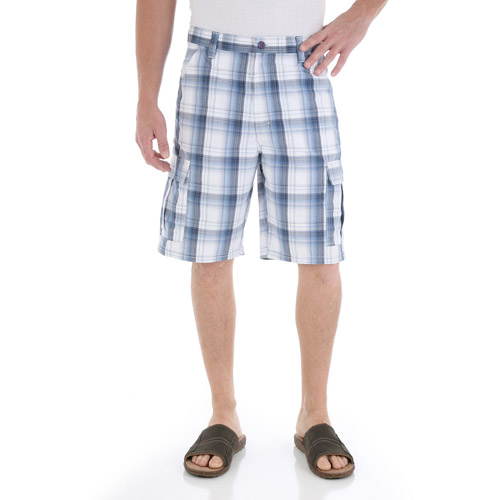 Wrangler - Men's Plaid Cargo Short