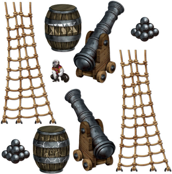 Ddi Pirate Ship Props (pack Of 48)