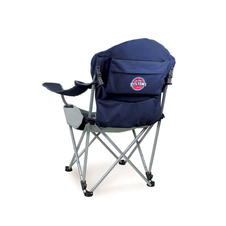 Detroit Pistons Reclining Camp Chair (Navy) by