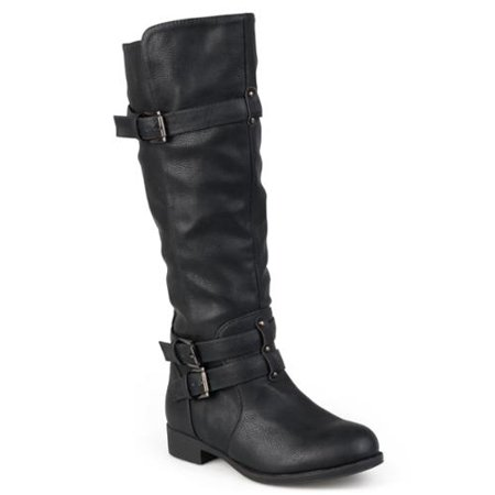 Journee Collection Women's 'Bite' Regular and Wide-calf Buckle Knee-high  Riding