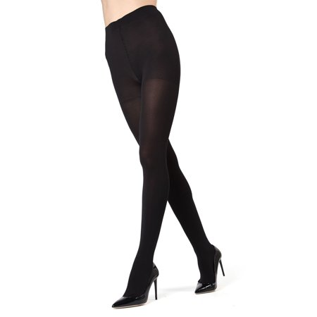 MeMoi Completely Opaque Control Top Tights | MeMoi Premium Hosiery Small/Medium / Black MO 336