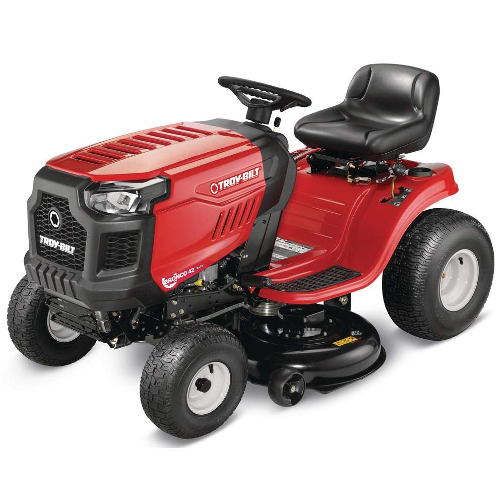 Troy Bilt Bronco 42 in. 19 HP Briggs & Stratton Automatic Drive Gas Riding Lawn Tractor with Mow in Reverse