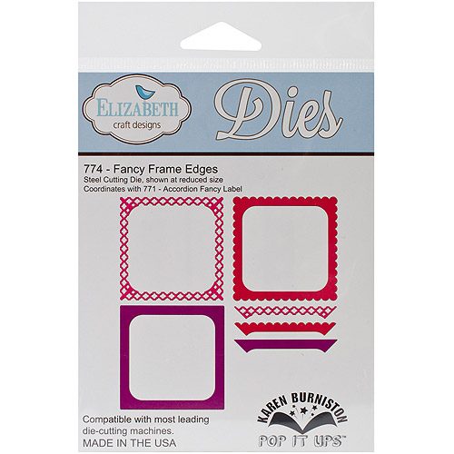 Elizabeth Craft Pop It Up Metal Dies By Karen Burniston, Fancy Frame Edges