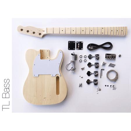 DIY Electric Bass Guitar Kit - Tele Bass Advanced Guitar Kit