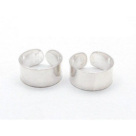 Sterling Silver Plain High Polish Huggie Ear Cuff Pair Earrings ()
