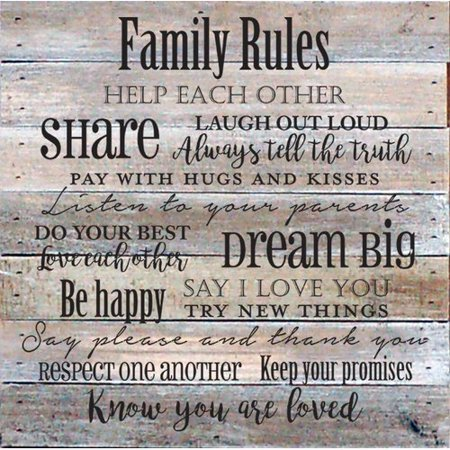 Winston Porter 'Family Rules' Textual Art on Wood in Cream