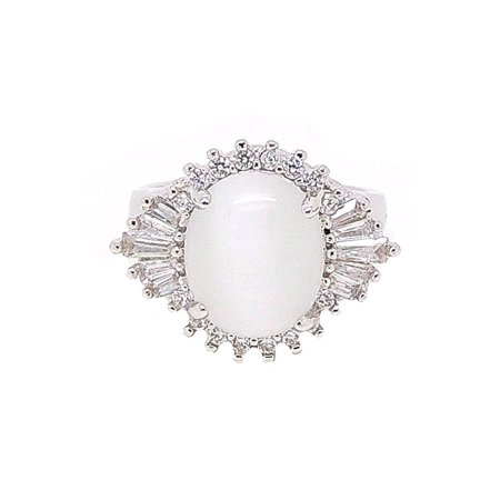 Harper Stunning Lab Created Moonstone Baguette Ring - Ginger Lyne Collection