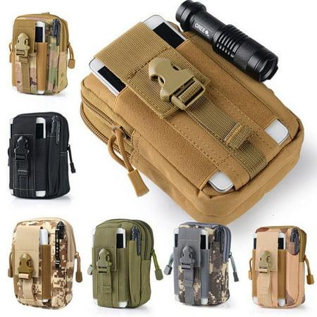 Tactical Molle Pouch Belt Waist Pack Bag Military Waist Iphone Pocket Waterproof ()