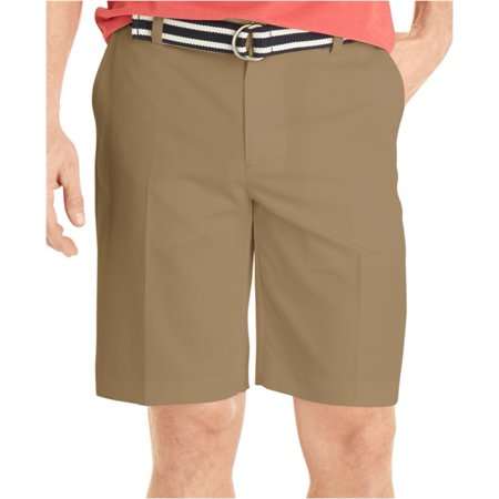 Izod Mens Double Pleat Microfiber Casual Chino Shorts