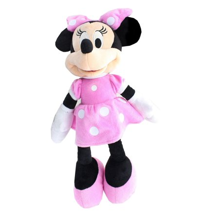 5e609ce96a3 Disney Mickey Mouse Clubhouse Minnie Mouse Plush - Pink Polka Dot Dress -  Walmart.com