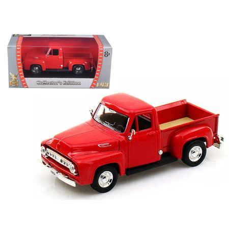 1953 Ford F100 Pickup - 1953 Ford F-100 Pickup Red 1/43 Diecast Car Model by Road Signature