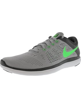 0c6812e0ad6f Nike Men s Flex 2016 Rn Wolf Grey   Rage Green-Dark Grey-White Ankle