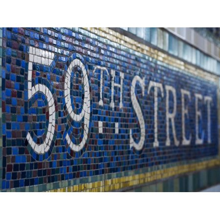 59Th Street Subway Station Sign Print Wall Art By Jon Hicks