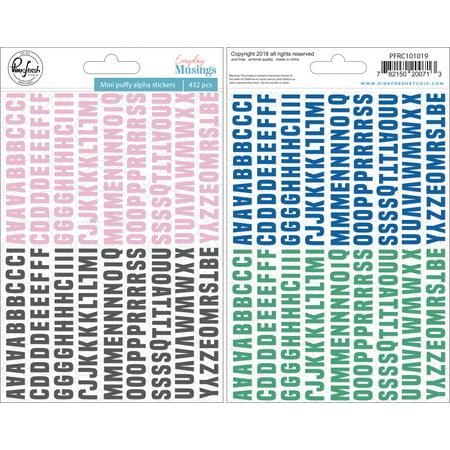 Pinkfresh Puffy Mini Alpha Stickers  -Everyday Musings, 432/Pkg - image 1 of 1