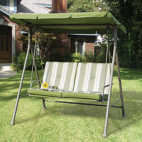 Garden Winds Replacement Canopy Top For Double Seat Swing Beige