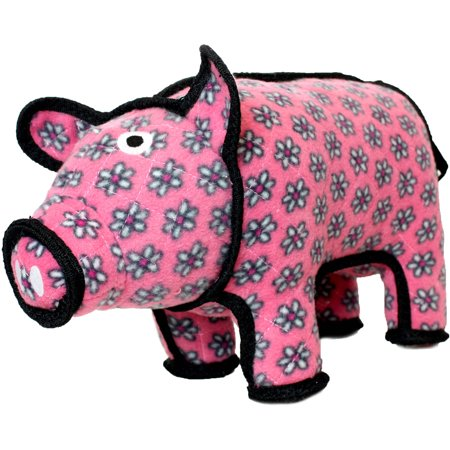 VIP Products Tuffy Barnyard Pig Dog Toy, Multicolor