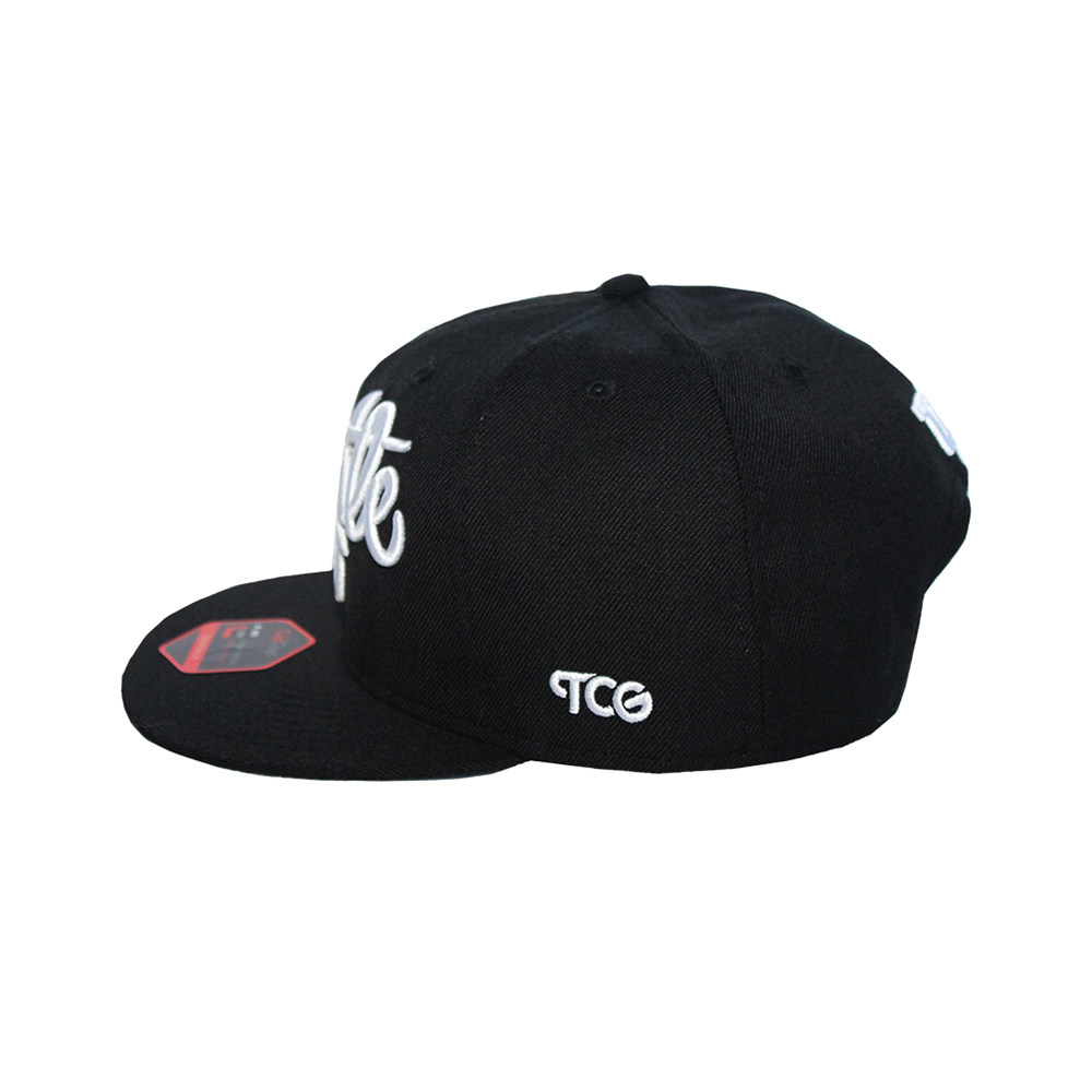 Hustle - T.O. - The Cap Guys TCG / Inspired Exclusives White and Black Snapback - image 3 of 5