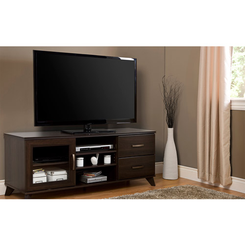 South Shore Caraco Mocha TV Stand for TVs up to 60""