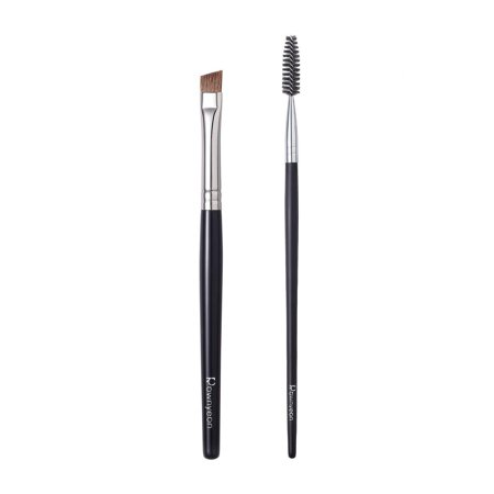Angled Eyebrow Brush Spoolie Brush Set, Professional Eye Brow Brush Thin Firm Pony Hair Bristle with Ultra Soft Spoolie Brush, Pro Brow Makeup Necessary Set #YH35#E21 (Pony Hair/Nylon Fibe thumbnail