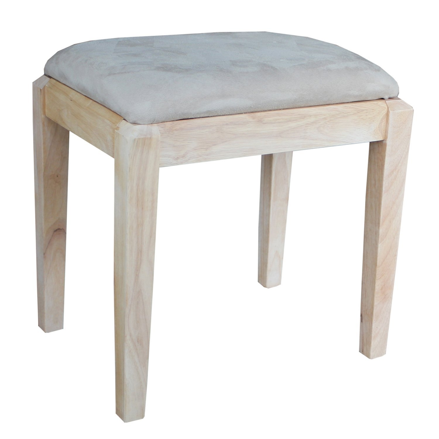 International Concepts Unfinished Vanity Bench, Unfinished by Whitewood Industries DBA International Concepts - DROP SHIP
