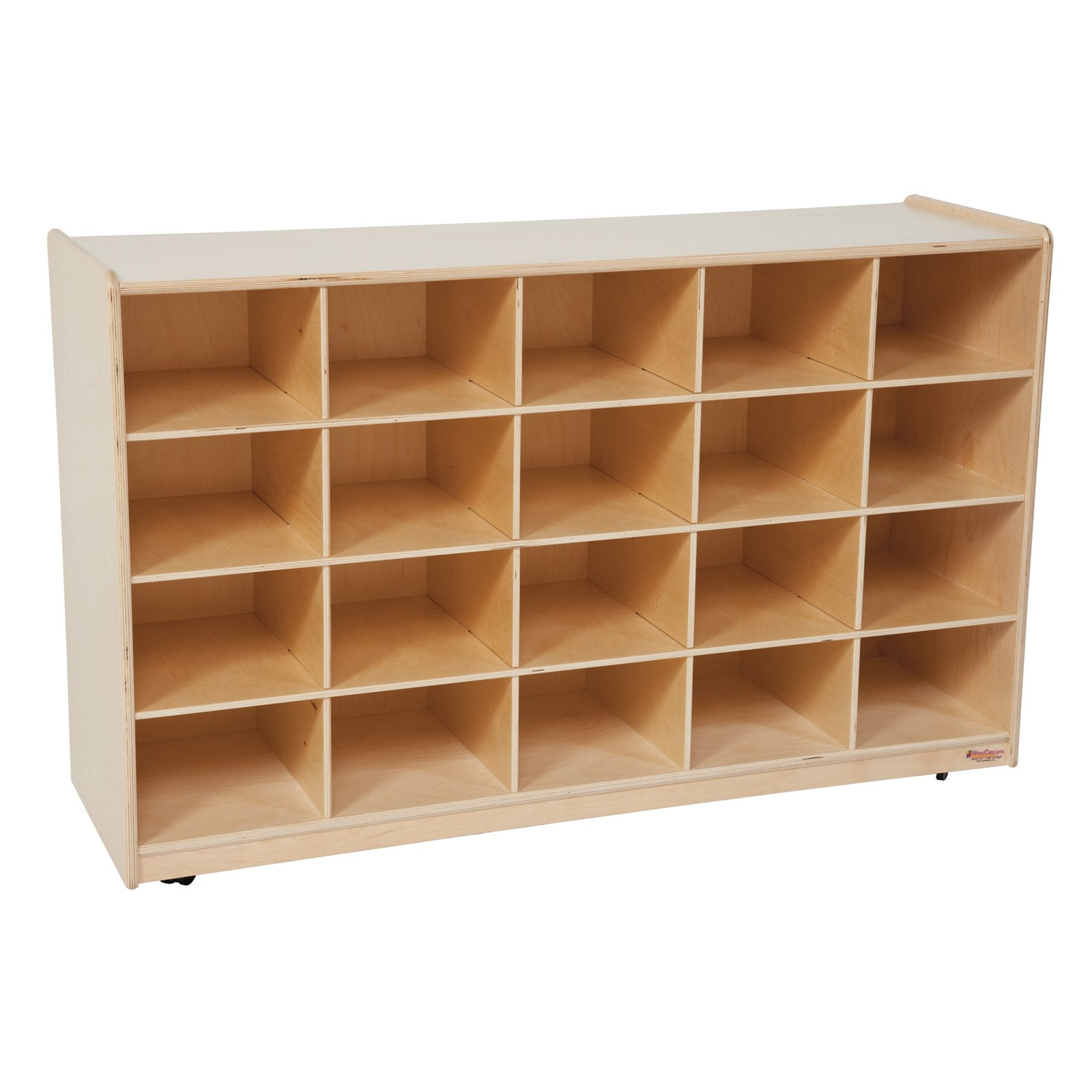 Wood Designs Natural 20 Tray Storage without Trays