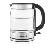 Farberware Royal Glass and Stainless Steel 1.7 Liter Electric Tea Kettle, Cordless